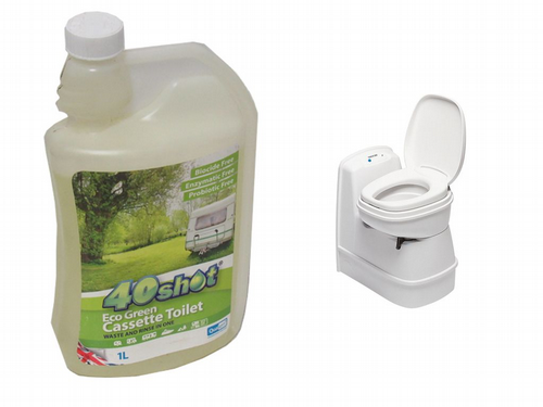 40 Shot Eco Green Cassette Toilet - Cleaner No Dye Clean Septic